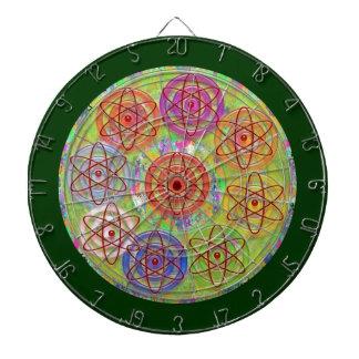 投げ矢のチャクラ11は電子原子の宇宙波を刻みます ダーツボード