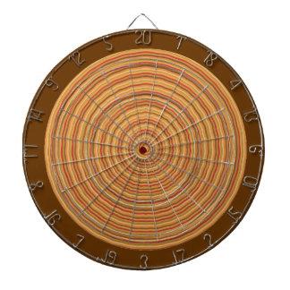 投げ矢のチャクラ113の斜子織金ブラウン ダーツボード