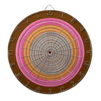 投げ矢のチャクラ114の斜子織のピンクおよびブラウン ダーツボード