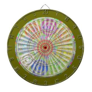 投げ矢のチャクラ118は赤く青い宇宙波を刻みます ダーツボード
