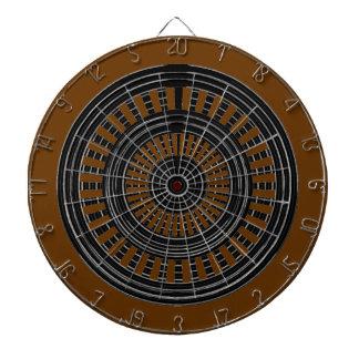 投げ矢のチャクラ-ブラウンの基盤の黒いnの銀製の円形 ダーツボード