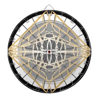 投げ矢の投げ矢板幾何学的な金ゴールドの銀のゲームのギフト ダーツボード