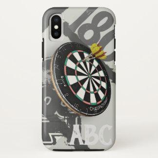 投げ矢プレーヤーのダート盤180のモノグラム iPhone X ケース