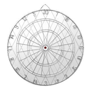 投げ矢板モダンダイヤモンド白の(c)スイスの白 ダーツボード