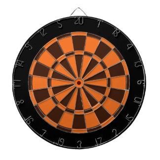 投げ矢板: オレンジ、ブラウンおよび黒 ダーツボード