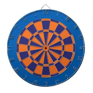 投げ矢板: オレンジ、海軍および青 ダーツボード