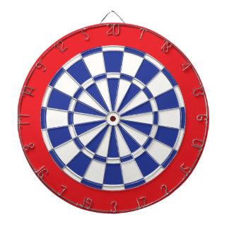 投げ矢板: 白い、ロイヤルブルーおよび赤 ダーツボード