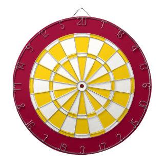 投げ矢板: 白、金黄色およびあずき色 ダーツボード