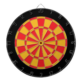 投げ矢板: 金ゴールド、赤および黒 ダーツボード