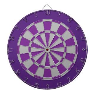 投げ矢板: 銀製灰色、紫色および暗い紫色 ダーツボード