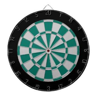 投げ矢板: 銀製灰色、緑および黒 ダーツボード