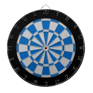 投げ矢板: 銀製灰色、青および黒 ダーツボード