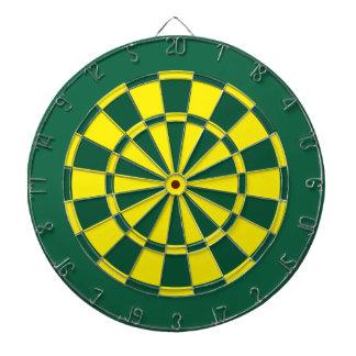 投げ矢板: 黄色、緑、および深緑色 ダーツボード