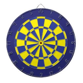 投げ矢板: 黄色、青い、および海軍 ダーツボード