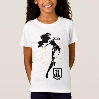 投げ縄のポップアートのジャスティス・リーグ|のワンダーウーマン Tシャツ
