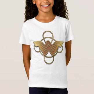 投げ縄上のワンダーウーマンの金ゴールドの記号 Tシャツ