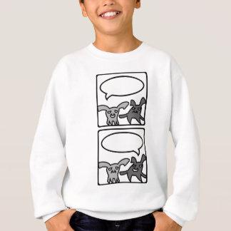 投石されたバニー-垂直 スウェットシャツ