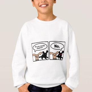 投石されたバニー-英語を話しますか。 いいえ スウェットシャツ