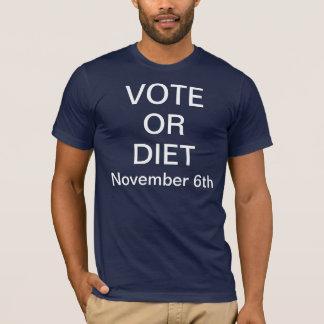 投票かダイエット11月6日 Tシャツ