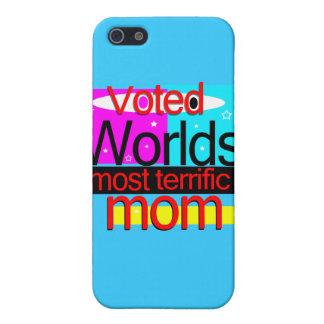 投票された世界お母さんのIphoneほとんどの大変な4 Speckの例 iPhone 5 Case