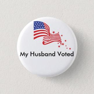 投票される私の夫! 3.2CM 丸型バッジ