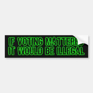 投票の重要バンパーステッカーなら バンパーステッカー