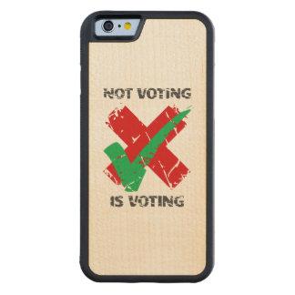 投票は投票です CarvedメープルiPhone 6バンパーケース