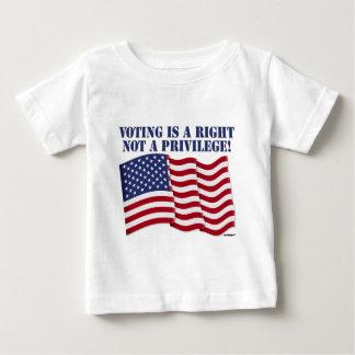 投票は権利ない特権です! ベビーTシャツ
