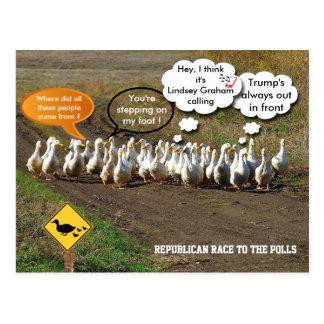 投票への共和党の競争 ポストカード