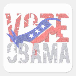 投票オバマ2012年 スクエアシール