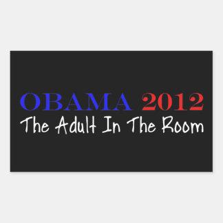 投票オバマ2012年 長方形シール
