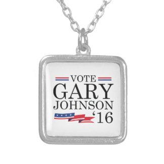 投票ギャリージョンソン2016年 シルバープレートネックレス