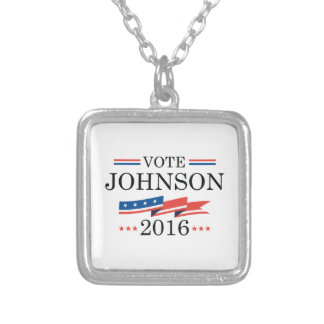 投票ジョンソン2016年 シルバープレートネックレス