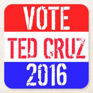 投票テッドCruz 2016年 スクエアペーパーコースター