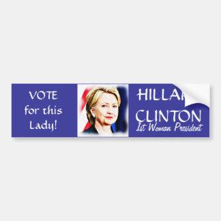 投票ヒラリークリントンの_ バンパーステッカー