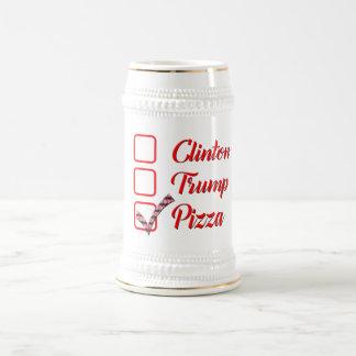 投票ヒラリー・クリントンの切札おもしろいなピザビールのジョッキ ビールジョッキ