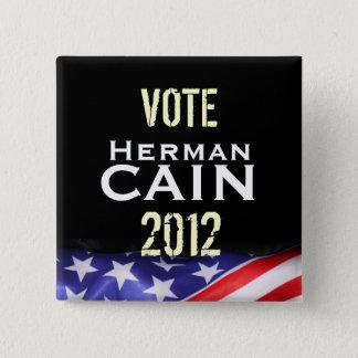 投票ヘルマンカイン2012のキャンペーンボタン 5.1CM 正方形バッジ