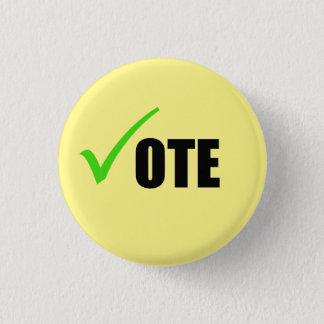 投票ボタン 3.2CM 丸型バッジ