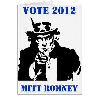 投票ミット・ロムニー2012年 カード