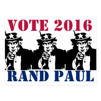 投票ランドポール2016年 ポストカード