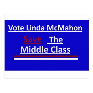 投票リンダMcMahon ポストカード