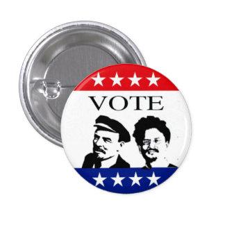 投票レーニンおよびTrotsky 3.2cm 丸型バッジ