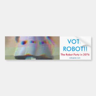 投票ロボット! バンパーステッカー