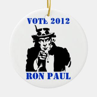 投票ロン・ポール2012年 セラミックオーナメント