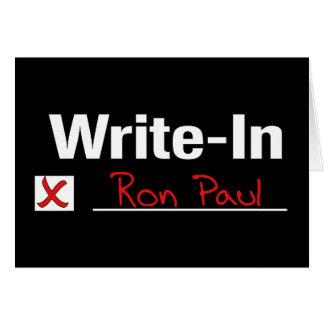 投票ロン・ポール カード