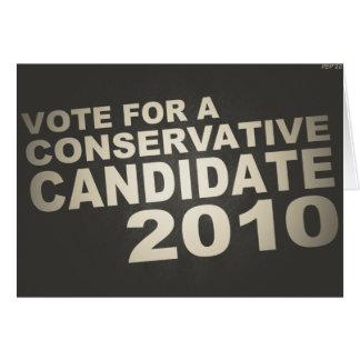 投票保守主義者2010年 カード