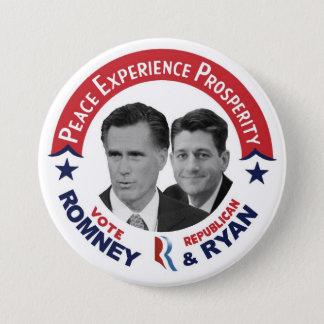 投票共和党の投票Romney及びライアン 7.6cm 丸型バッジ