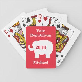 投票共和党員2016の一流の名前入りなトランプのポーカー トランプ