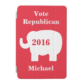 投票共和党員2016の一流の名前入りな赤 iPad MINIカバー