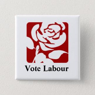 投票労働ボタン 5.1CM 正方形バッジ